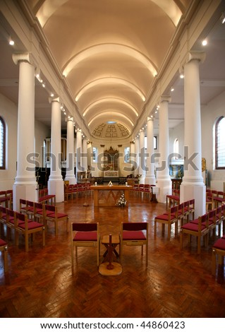 Interior view of church in Portsmouth, UK - stock photo