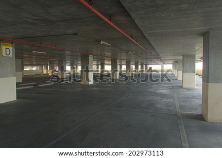 Interior view of  parking lot
