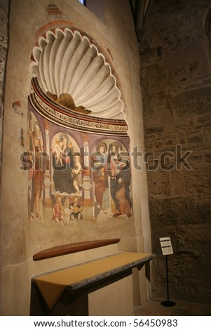 Interior View Of San Lorenzo Cathedral (Alba, Piemonte Italy) - stock photo