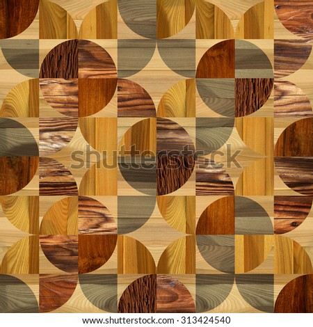 Interior wall panel pattern - tile pattern - seamless background - Interior Design wallpaper - decorative wrapping paper - different colors - laminate floor - wood texture - stained wood - stock photo