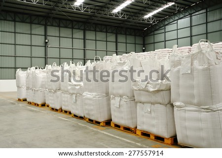 Interior warehouse. - stock photo