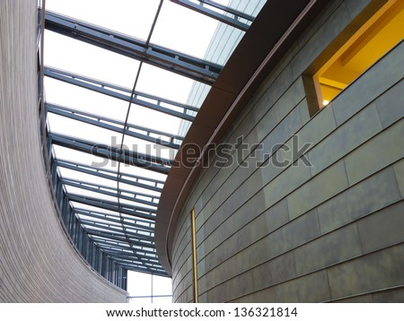 interior with ceiling light - stock photo