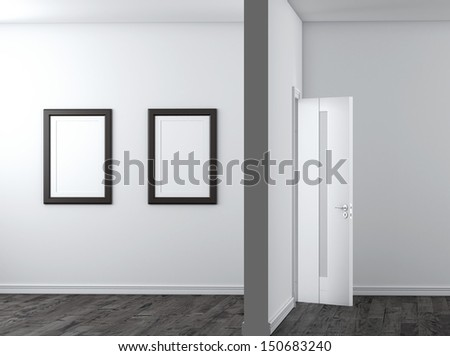 Interior with empty frames