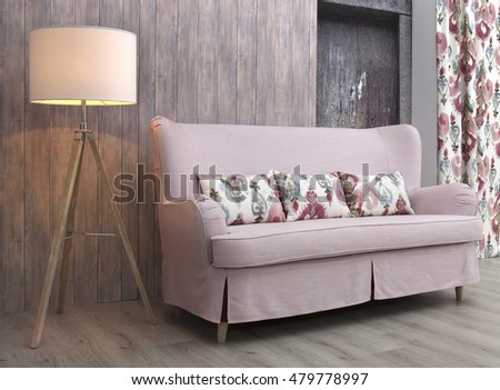 Interior with sofa