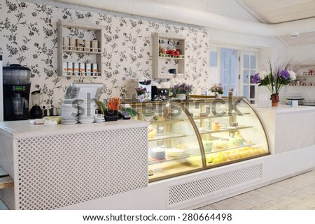 Interior with the image of bar counter - stock photo