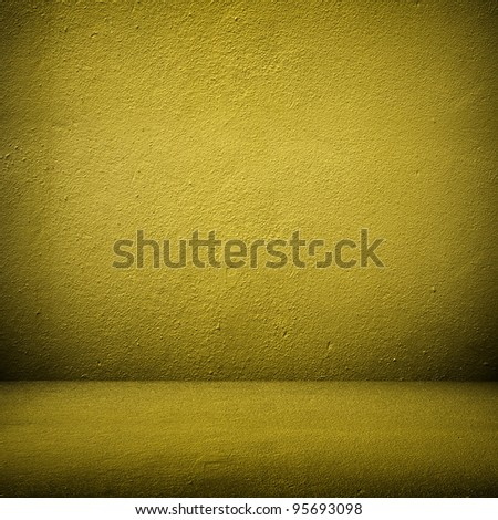 interior with yellow paint - stock photo