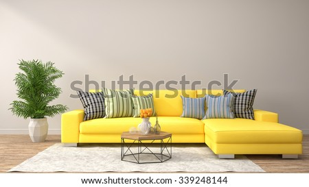 Living Room Yellow Sofa yellow interior stock images, royalty-free images & vectors