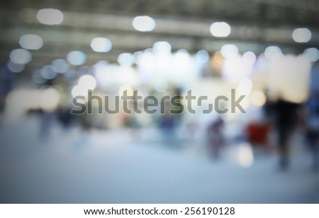 Interiors lights background. Intentionally blurred editing post production. Humans, location and products not recognizable. - stock photo