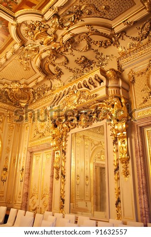 Interiors of the Polovtsov mansion - Architect's house, Saint Petersburg, Russia - stock photo