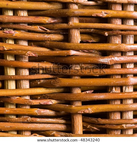 Interlacing twigs of a basket - stock photo