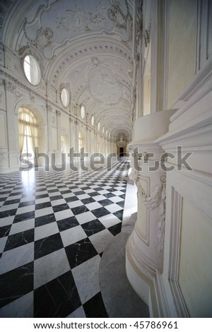 internal detail royal palace Reggia di Venaria - Turin