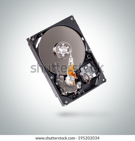Internal hard drive disk or computer storage. - stock photo