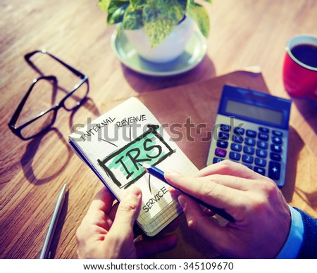 Internal Revenue Service IRS Finance Taxation Government Concept - stock photo