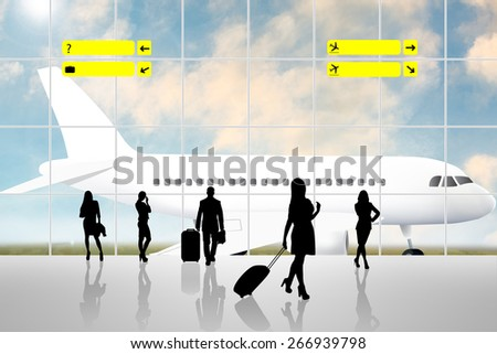 International Airport Terminal Travel Business Trip Concept - stock photo