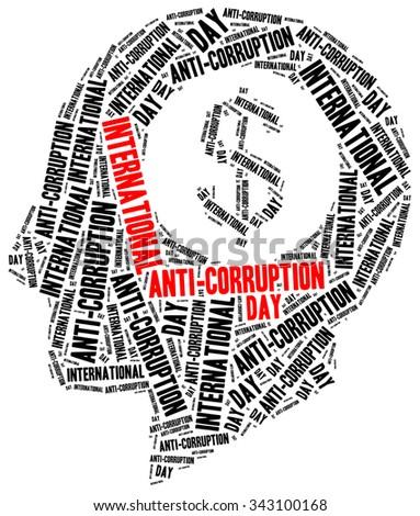 International anti-corruption day. Holiday celebrated on 9th December. - stock photo