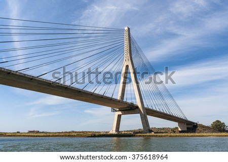 International Bridge, linking Portugal and Spain over the Guadiana river. Link Ayamonte and Villa Real Santo Antonio