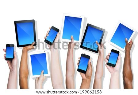 International communication - stock photo