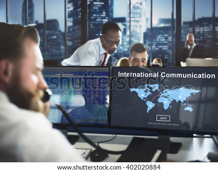 International Communication Global Communicate Concept - stock photo