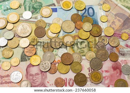 International Currency - stock photo