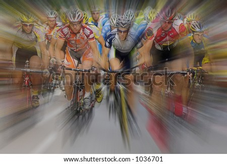 International Cycling Race - stock photo