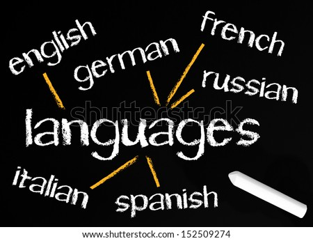 International Languages - stock photo