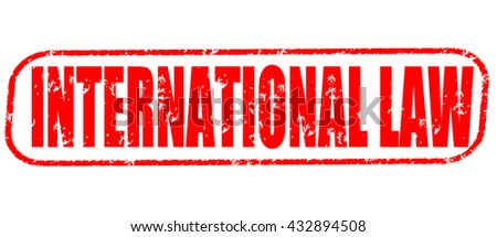 international law stamp on white background. - stock photo