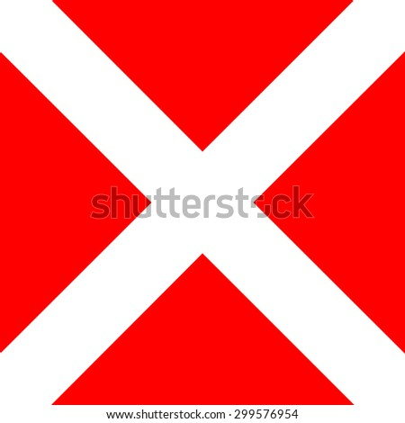 International maritime signal flags sea alphabet collection number 4 - stock photo