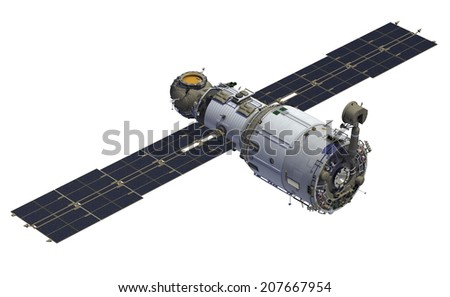 International Space Station. 3D Model. - stock photo