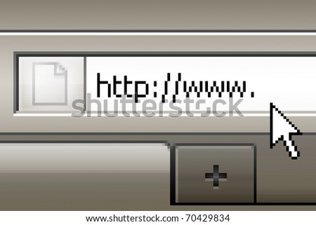 internet address being typed onto a computer screen