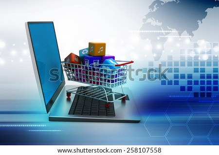 Internet and Online Shopping Concept - stock photo