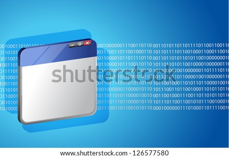 Internet and technology illustration design over a blue background