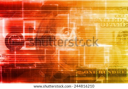 Internet Banking with Electronic Funds Transfer as Art - stock photo