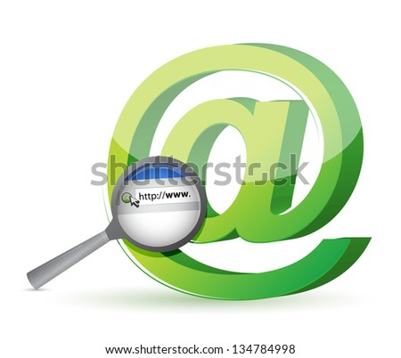 Internet browser search concept illustration design over a white background - stock photo