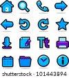 Internet browsing icons set - stock photo