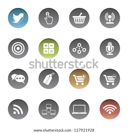 Internet-business icons. Vector version also available in gallery.