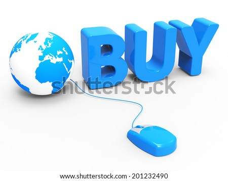 Internet Buy Indicating World Wide Web And Web Site