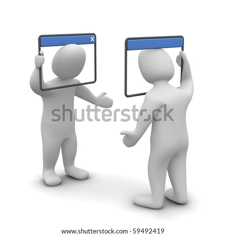 Internet chat concept. 3d rendered illustration. - stock photo