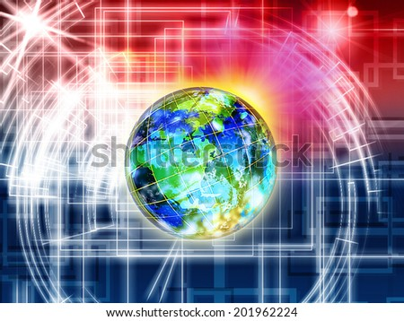 Internet.Communication - stock photo