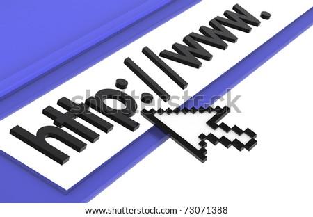 Internet Concept, Blue - stock photo
