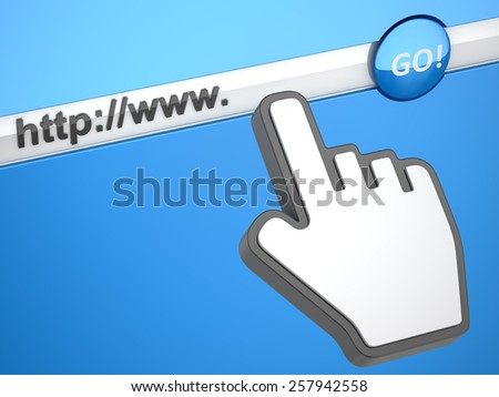 Internet concept , computer generated image. 3d rendered image. - stock photo