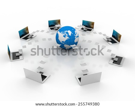 Internet Concept of a Global System and Business - stock photo