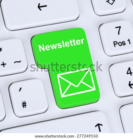 Internet concept sending newsletter for business marketing campaign with letter symbol - stock photo