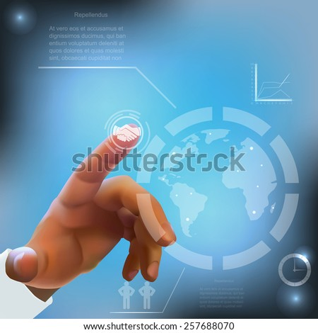 internet concept - with media icons - stock photo