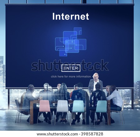 Internet Conference Corporate Concept - stock photo