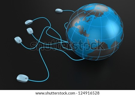 internet connection - stock photo