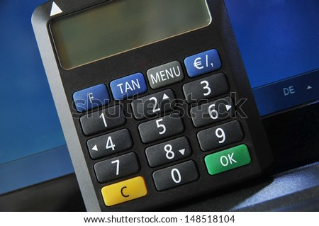 Internet credit card security with TAN Generator - stock photo
