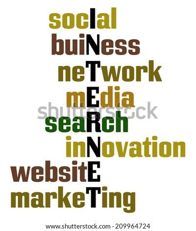 Internet crossword concept - stock photo