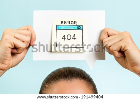 Internet error 404 page not found - stock photo