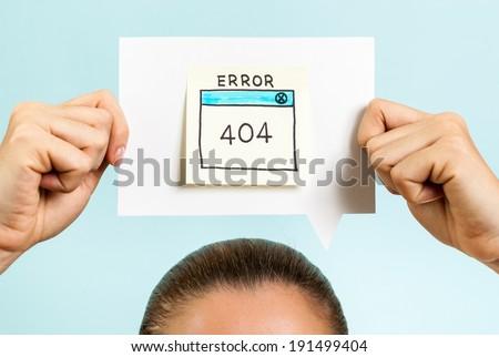 Internet error 404 page not found - stock photo