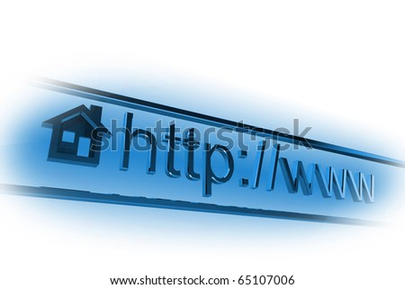 Internet homepage address in web browser
